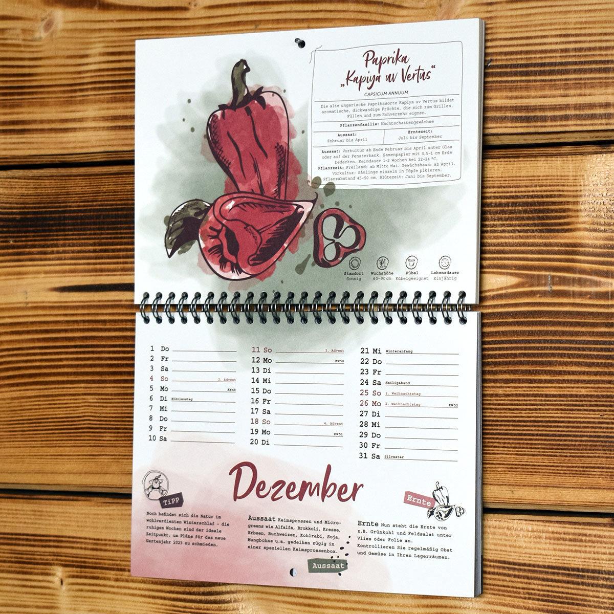 Einpflanzbarer Kalender - Historisches Saatgut   #4