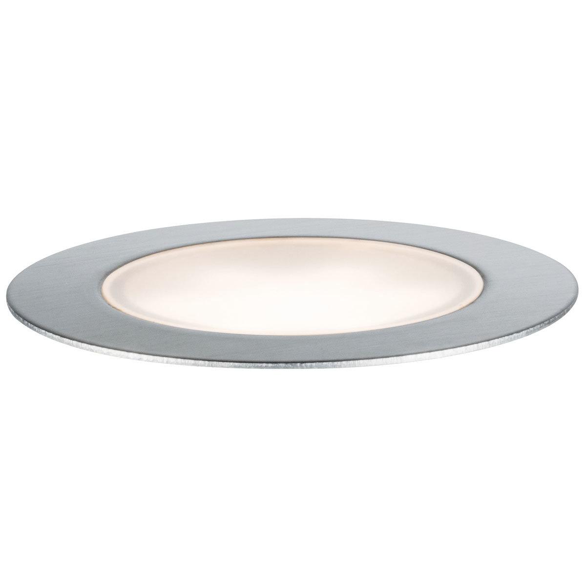 LED Outdoor Plug & Shine Floor Basis-Set, 3000K 3x1,3W  24V IP67, silber   #4