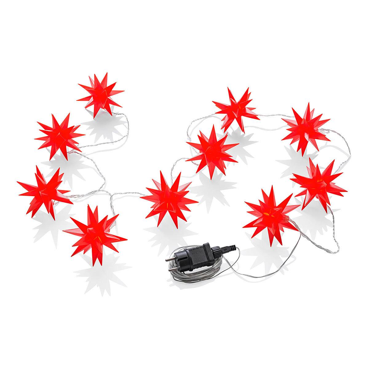 LED-Lichterkette Weihnachtstern, rot | #4