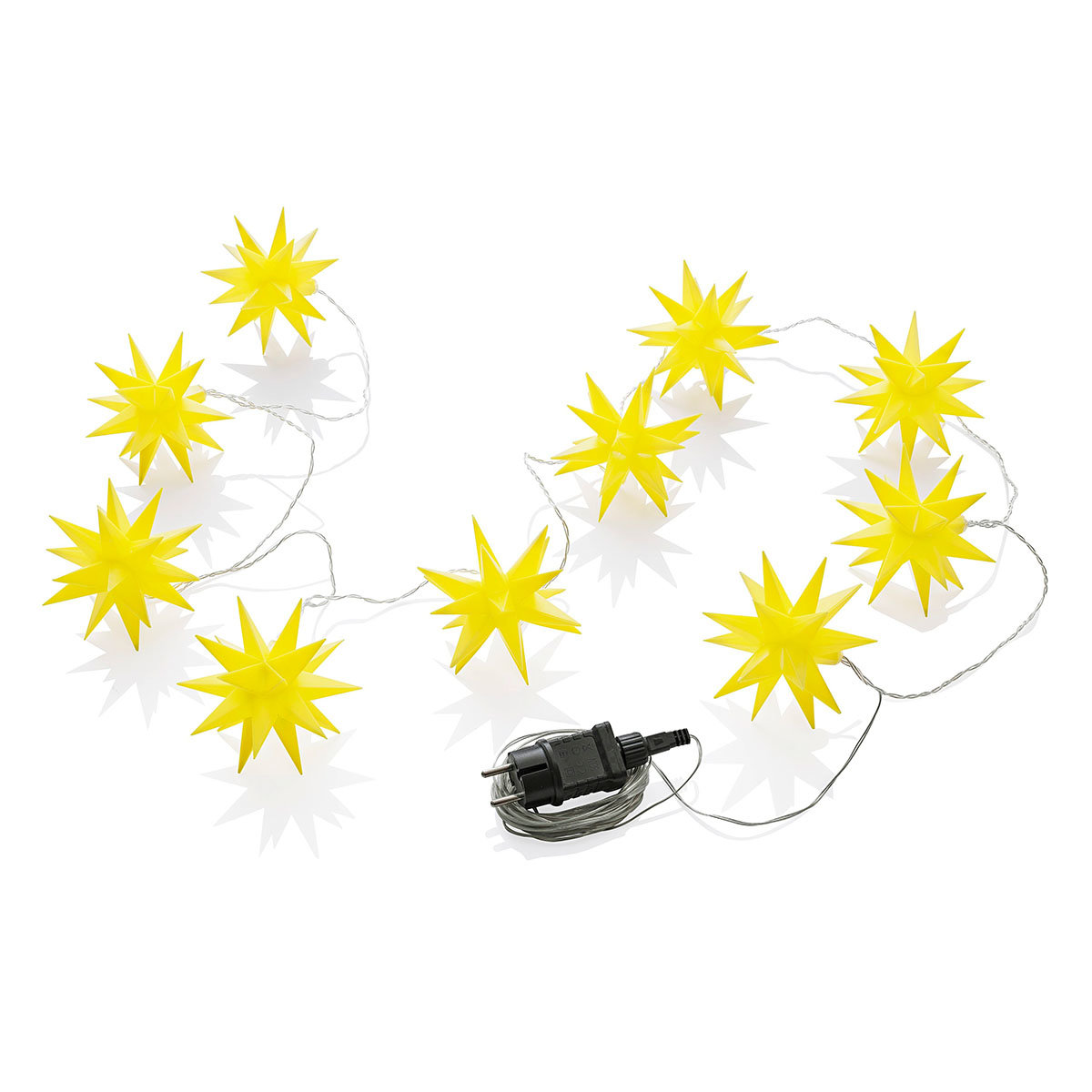 LED-Lichterkette Weihnachtstern, gelb   #4