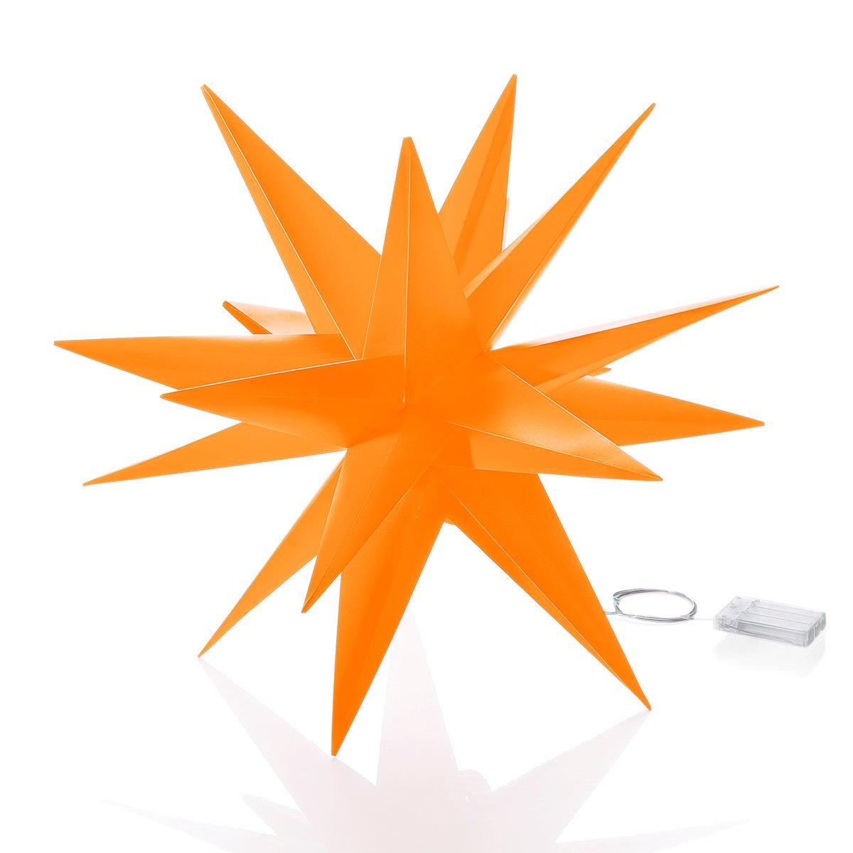 LED-Außenstern Weihnachten, orange   #4