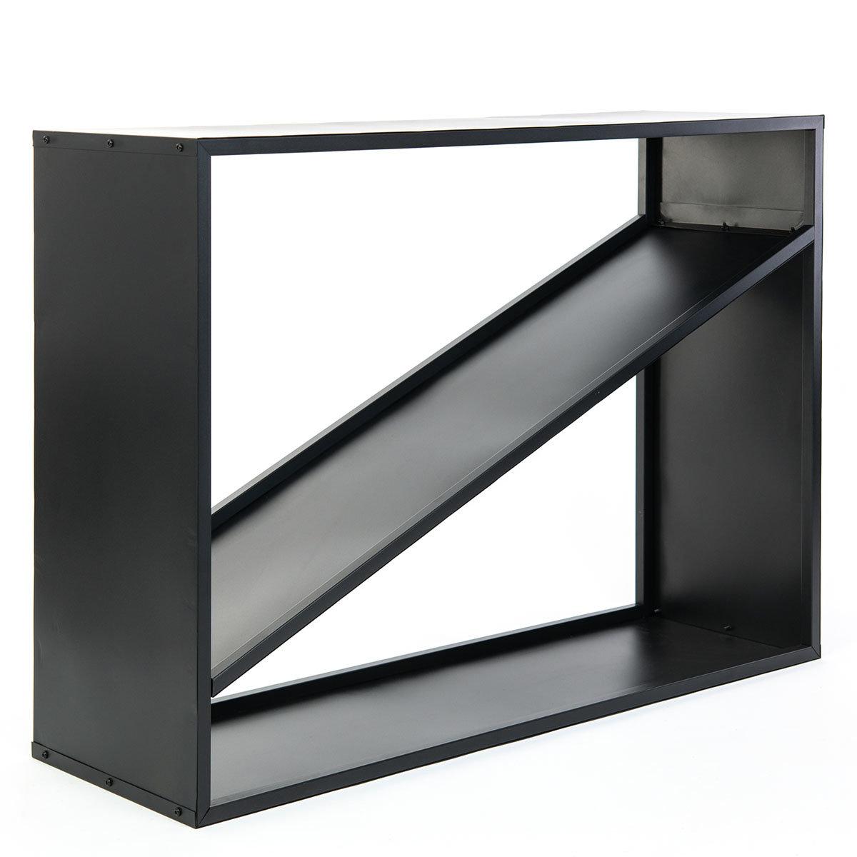 Kaminholzregal 115x35x80 cm, schwarz | #4