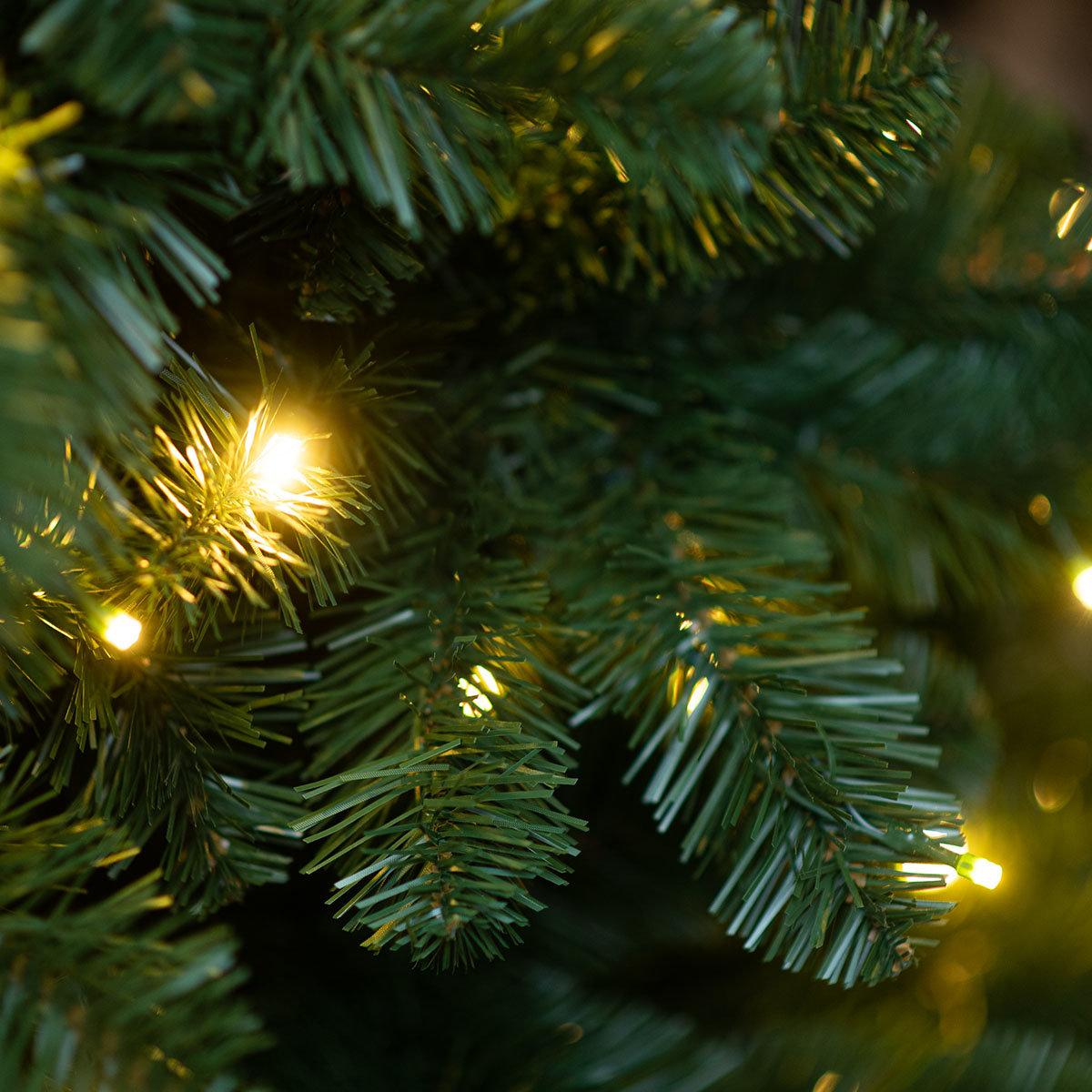 Künstlicher Weihnachtsbaum Kiefer mit LED-Beleuchtung, 180 cm   #4