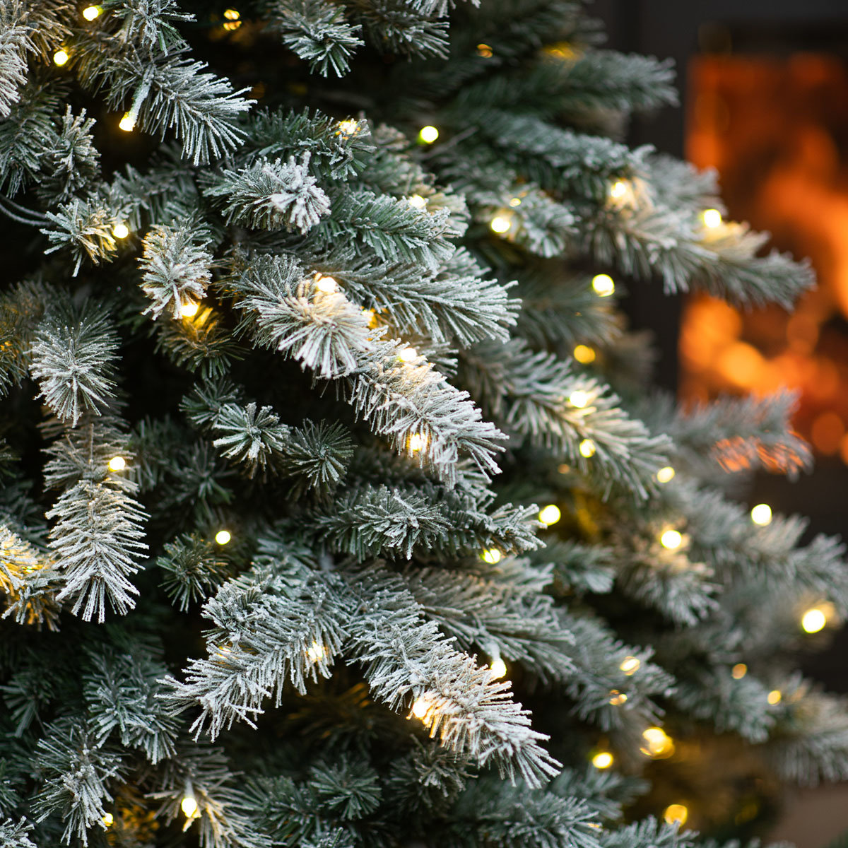 Künstlicher Weihnachtsbaum Fichte, Schneeoptik, mit LED-Beleuchtung, 210 cm   #4