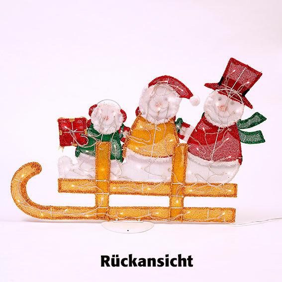 Fröhliche LED-Schneemann-Schlittenfahrt | #4