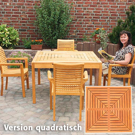 TEAK-Drei-in-Eins-Tisch (rund, oval & quadratisch) | #4