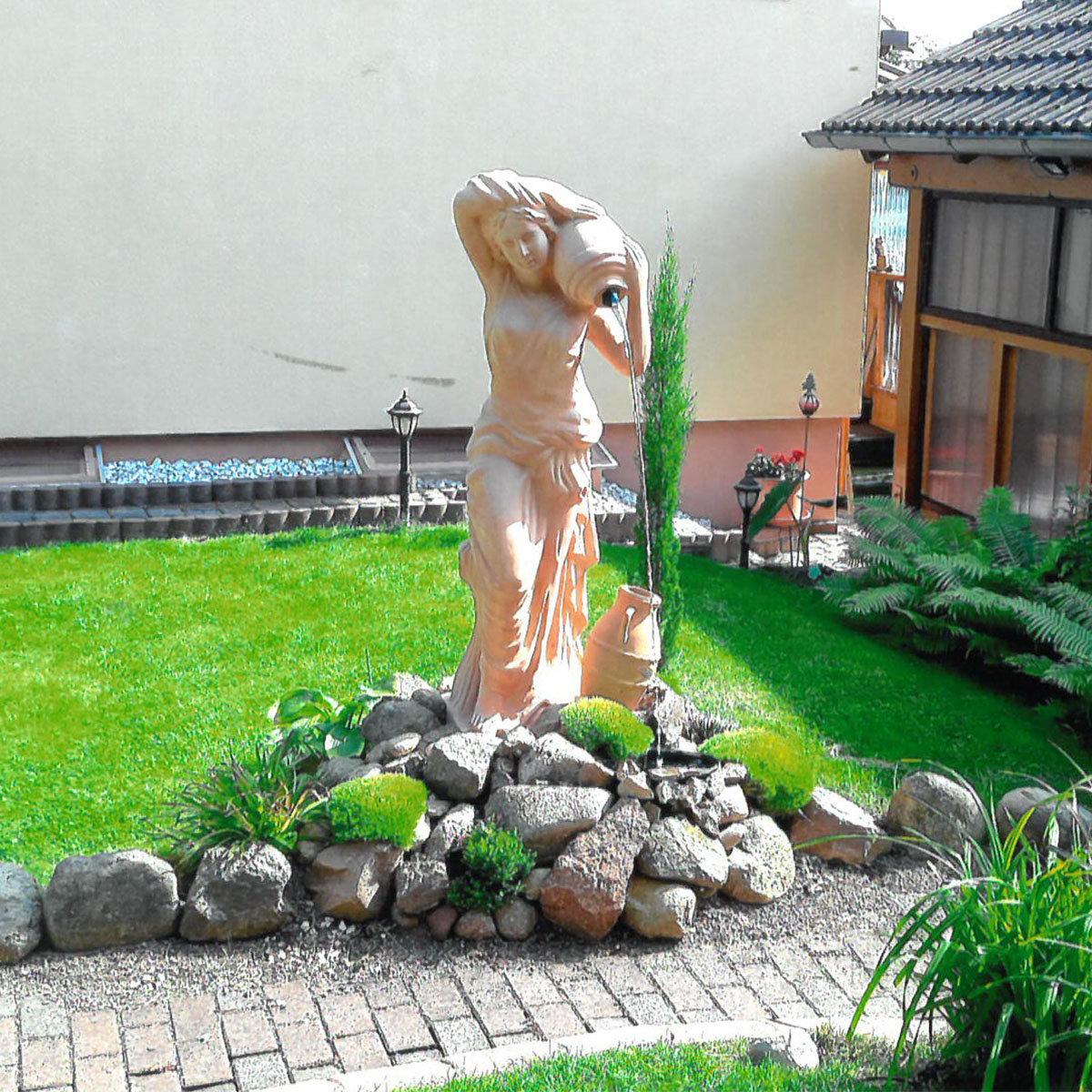 Terracotta Garten-Skulptur & Wasserspiel Athena   #4