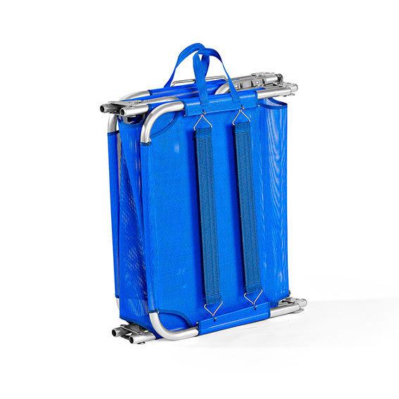Tragbare Aluminium-Sonnenliege Rimini, blau | #4