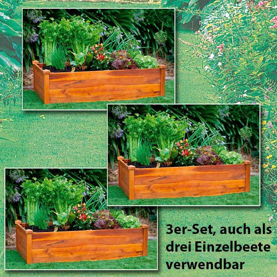 Hochbeet Klassik 3er-Set, rechteckig, stapelbar | #4