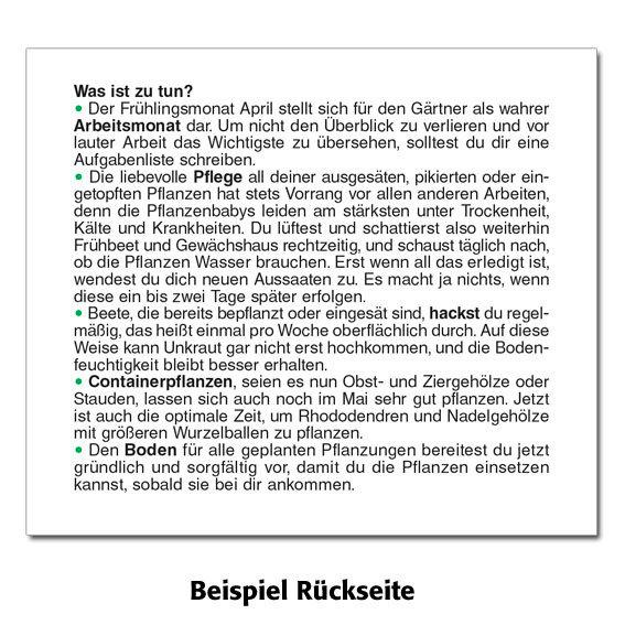 Gärtner Pötschkes Tages-Garten-Kalender Der Grüne Wink® | #4