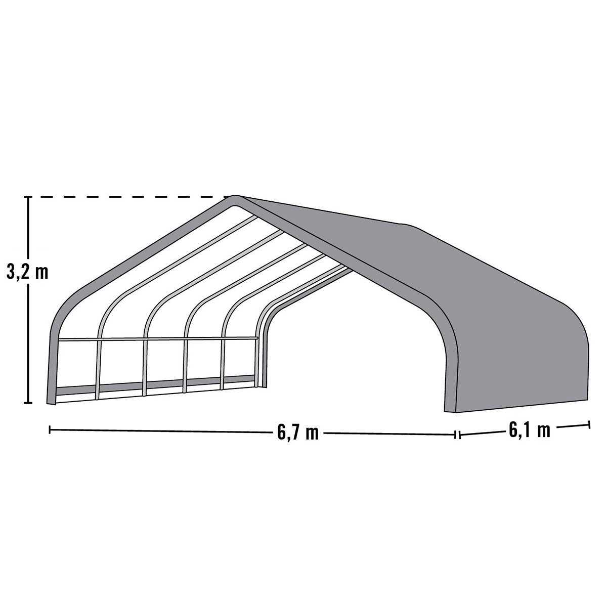 ShelterLogic Weidezelt Run-in-Shed 40,87m² inkl. Sturmanker   #5