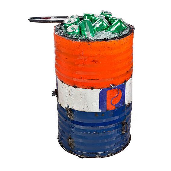 Eiskühler Tonne, Unikat aus recycelten Ölfässern | #5