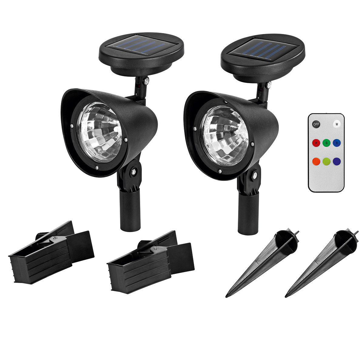 Solar-Strahler LED Multi-Color 2er-Set | #5