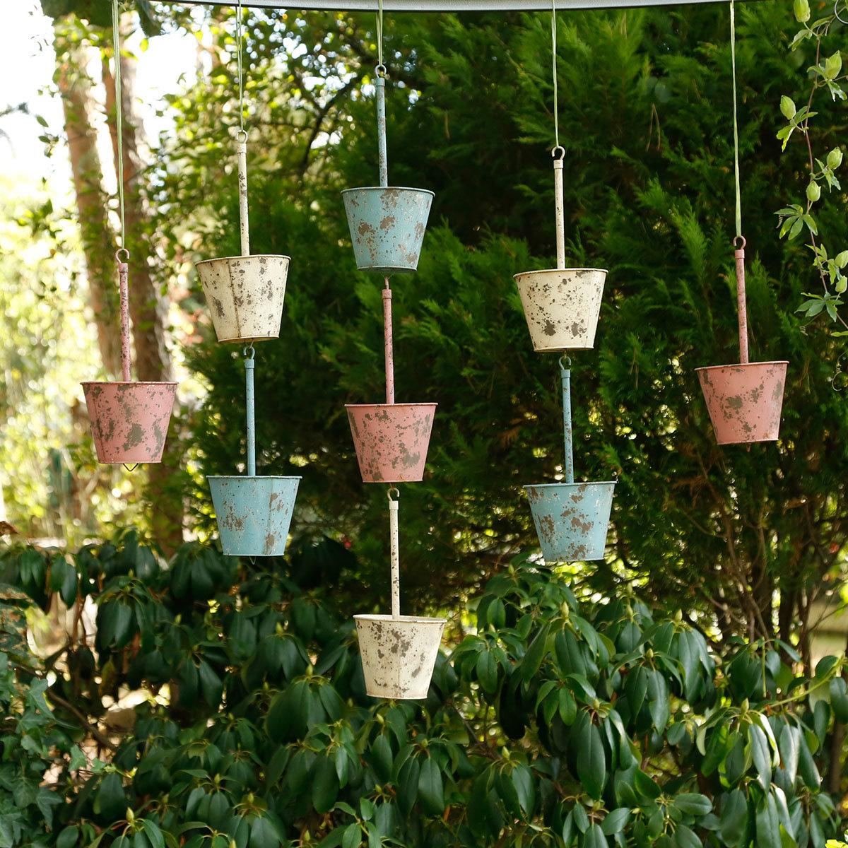Hängende Pflanztöpfe Swing pink, 3er-Set   #5