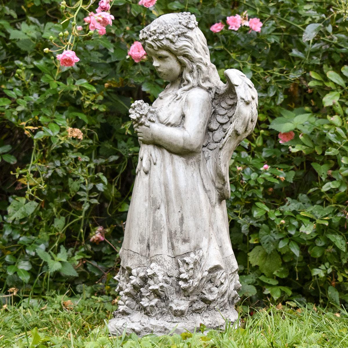 Gartenfigur Blumenengel Fiona | #5
