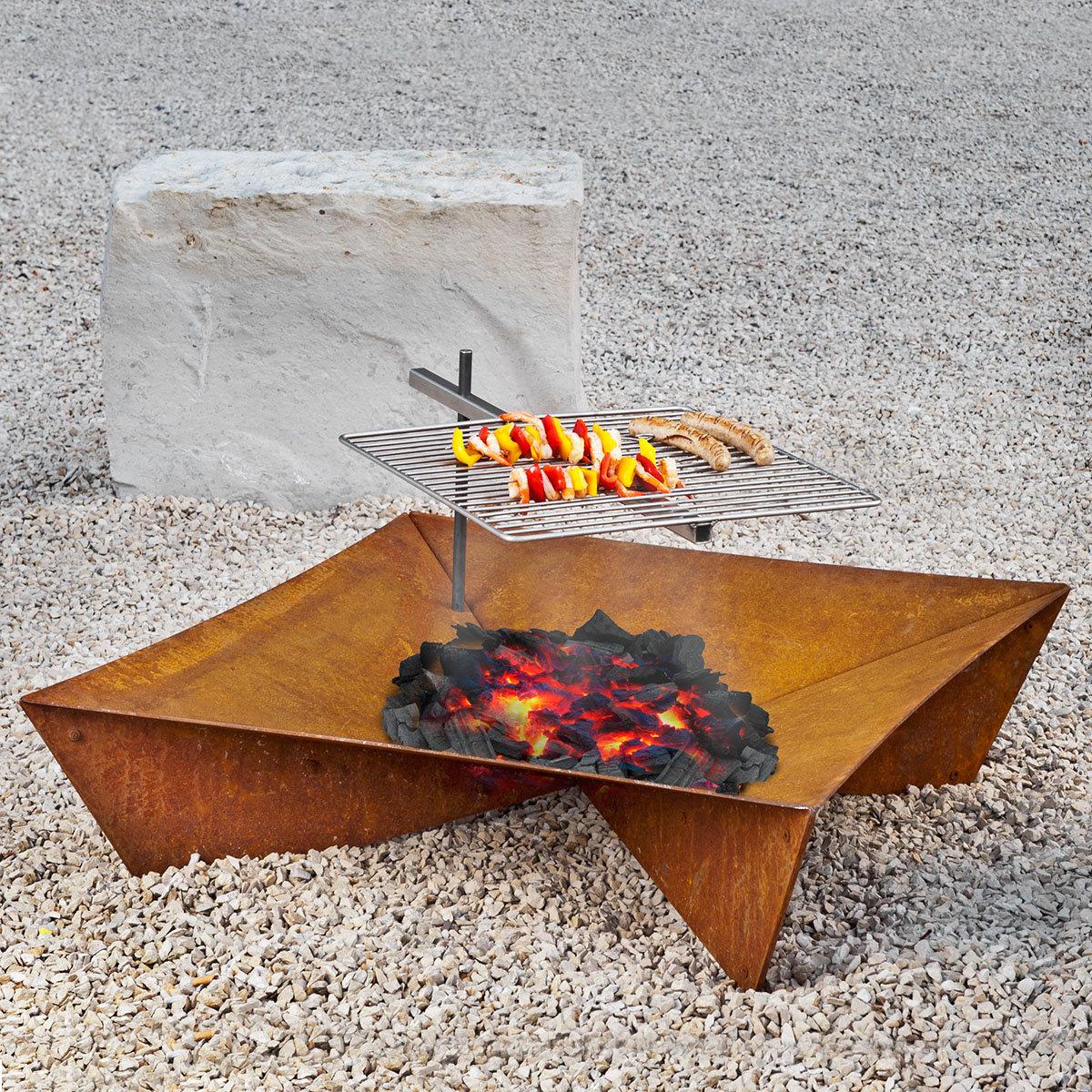 feuerstelle und grill fluxus set online kaufen bei g rtner p tschke. Black Bedroom Furniture Sets. Home Design Ideas