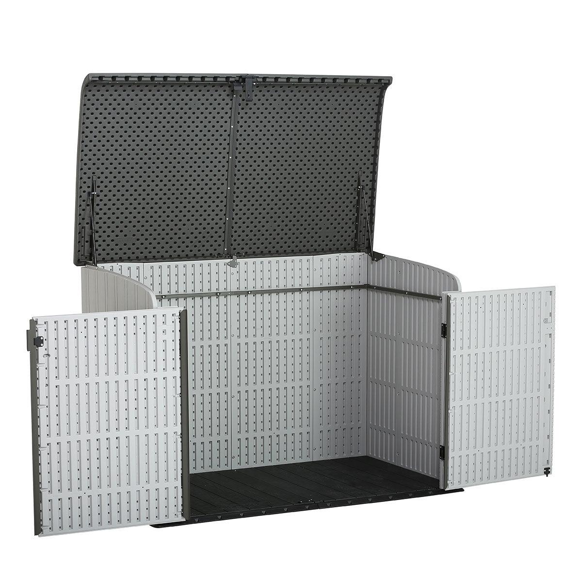 Gerätebox-Mülltonnenbox, 132x191x108 cm, grau | #5