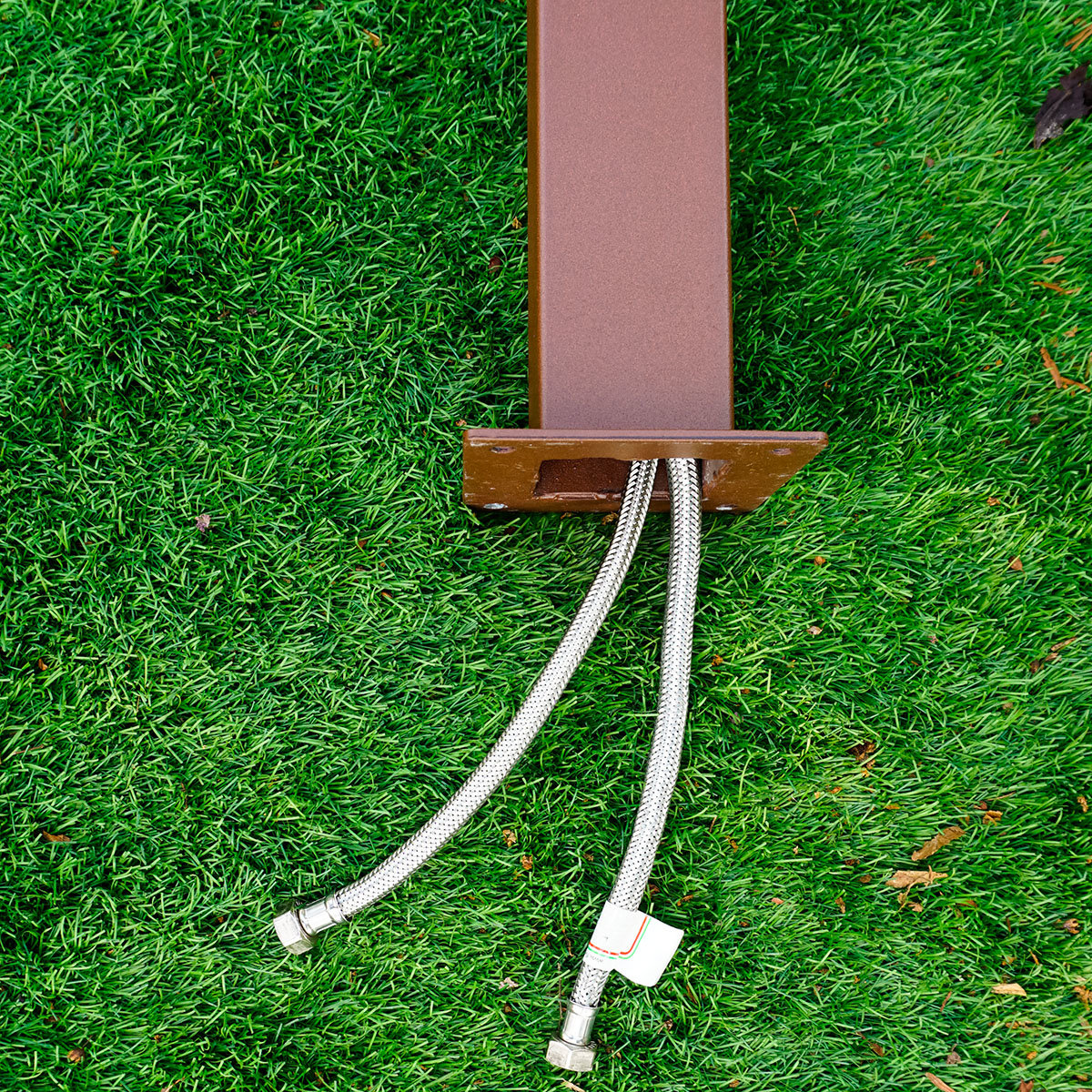 Wasserzapfsäule Quadra, 100x14x21 cm, Stahl, braun   #5