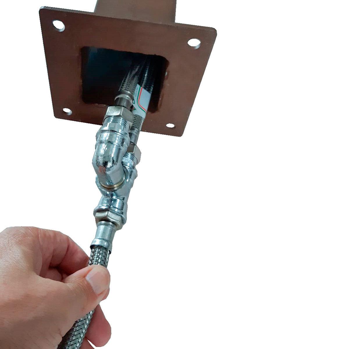 Überirdischer Flexischlauch für Wassersäule Tondo, Quadra und Silverline, 47x7x2,5 cm, Stahl | #5