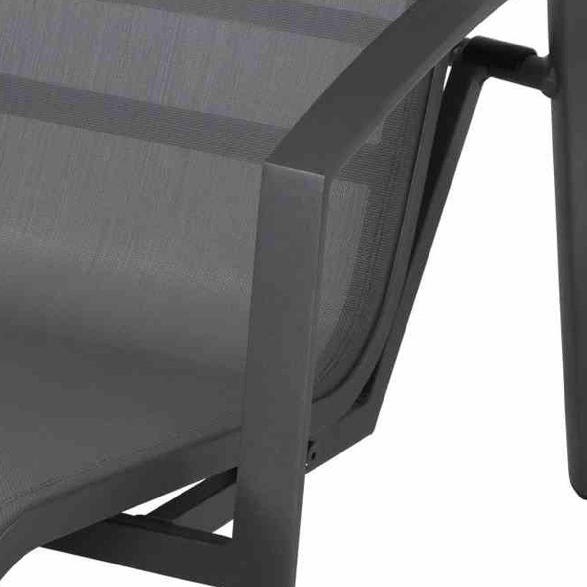 Gerona Sonnenliege, 103x68x148 cm, Aluminium, grau | #5