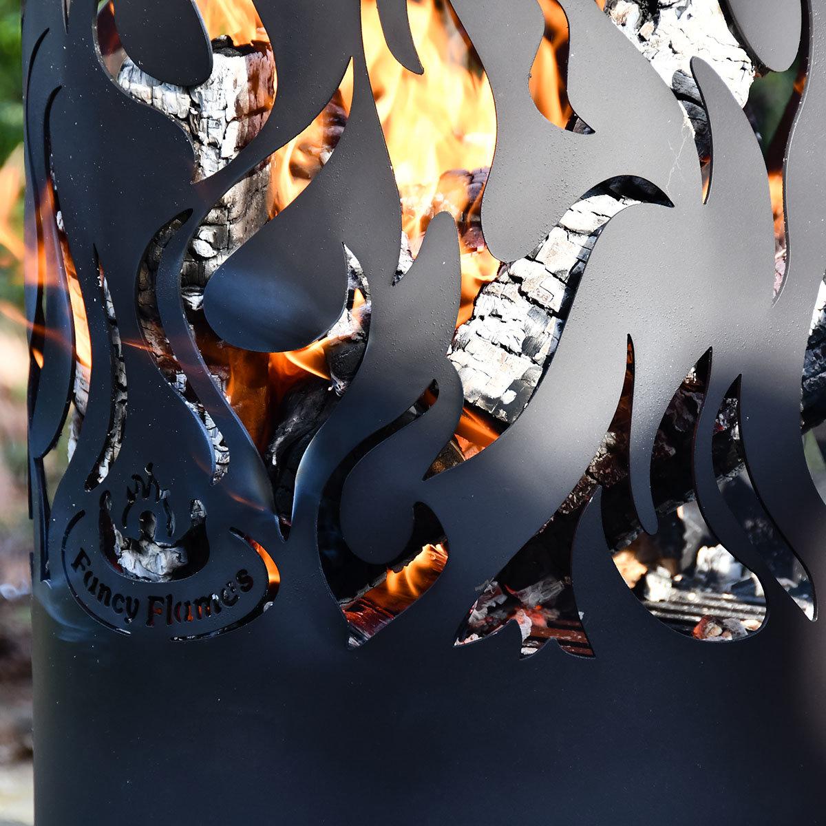 Flammentower Spector, 118x39x39 cm, Karbonstahl, schwarz | #5