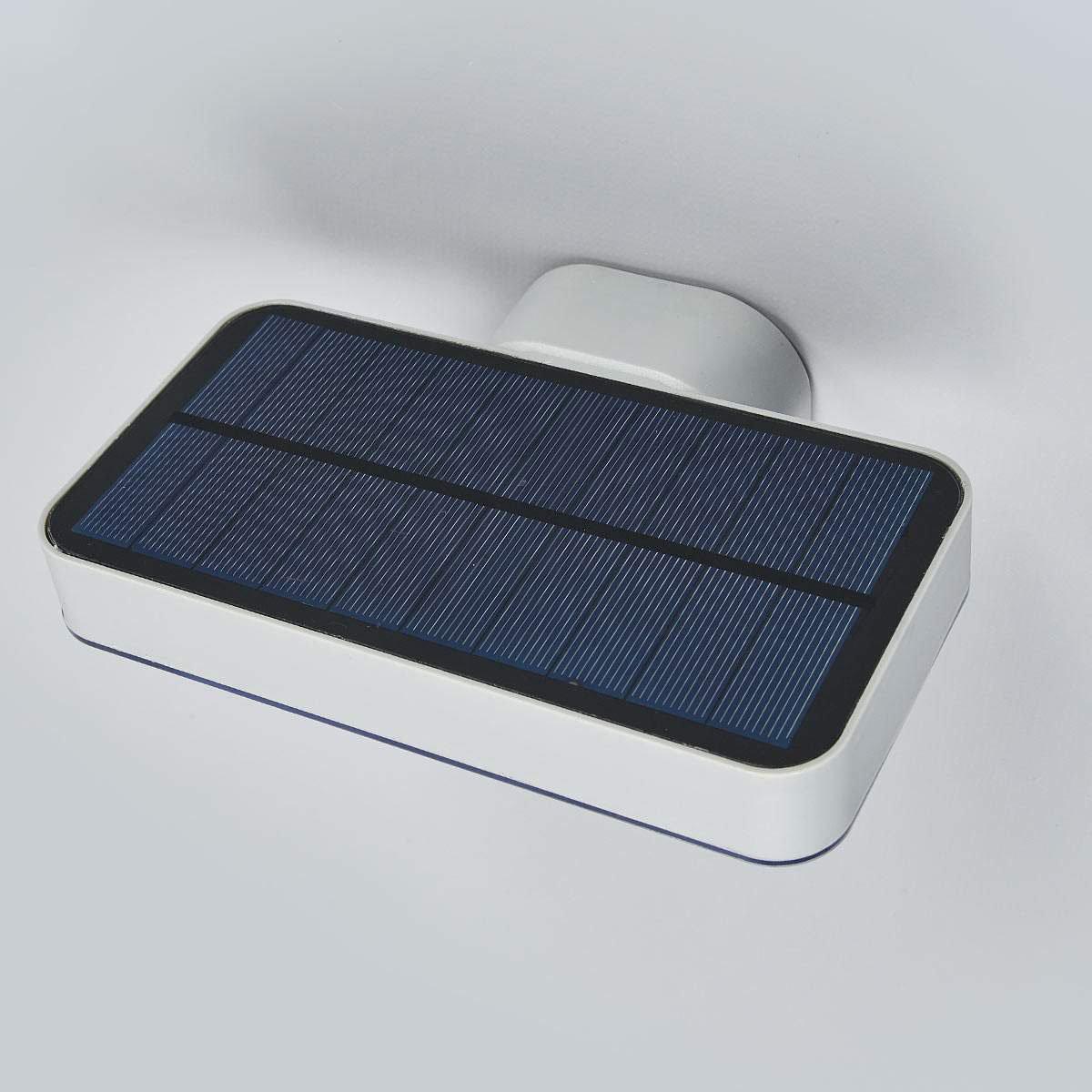 Solar-Außenwandlampe Maik mit Bewegungsmelder, 12x18x12,7 cm, Kunststoff, grau | #5