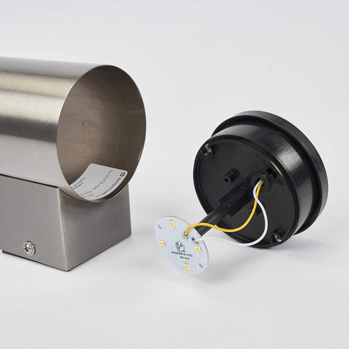 LED-Solar-Außenwandleuchte Tyson, 11,5x8x11,5 cm, Edelstahl, silber | #5