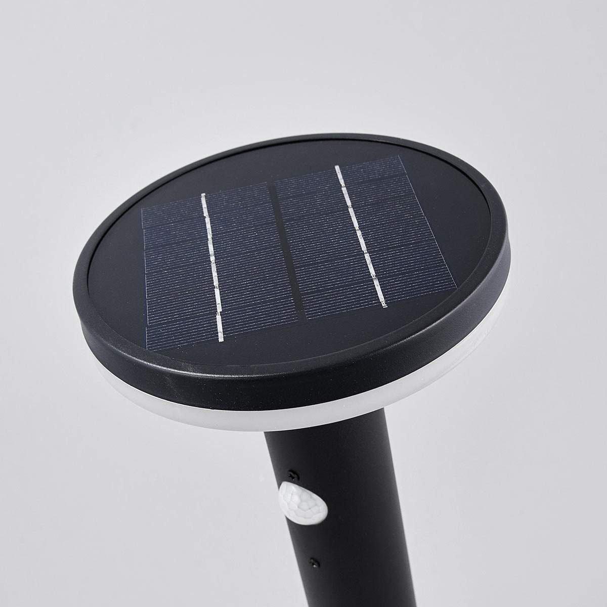 Solar-Sockellampe Eliano mit Bewegungsmelder, 45,5x16x16 cm, Edelstahl, schwarz   #5
