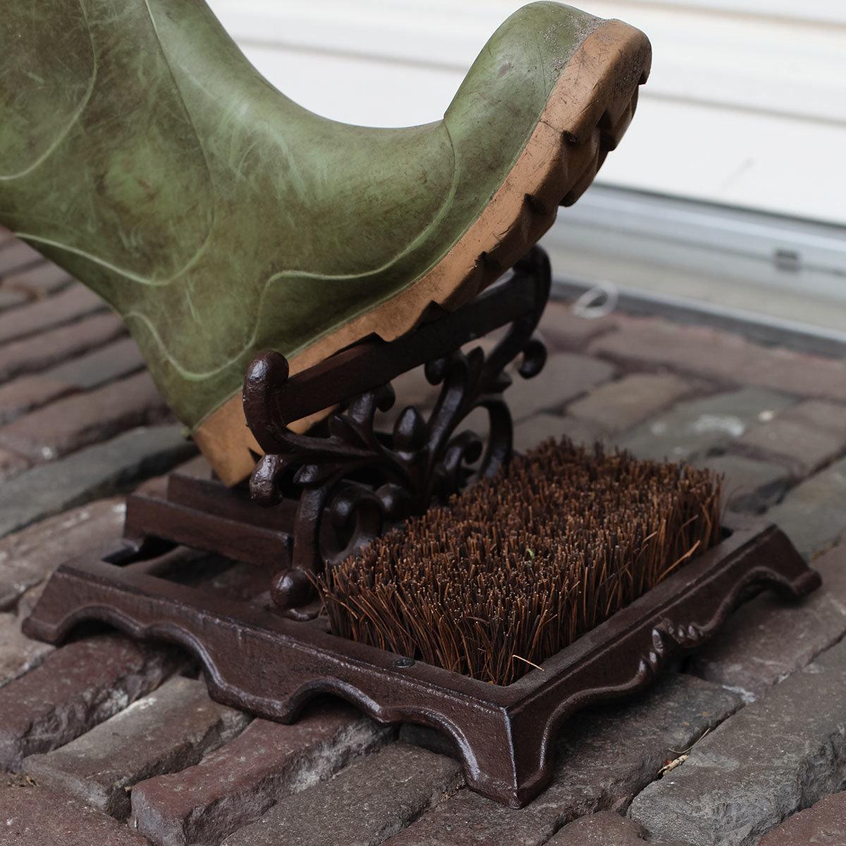 Schuhbürste Lyon, 14x27x22 cm, Gusseisen, braun   #5
