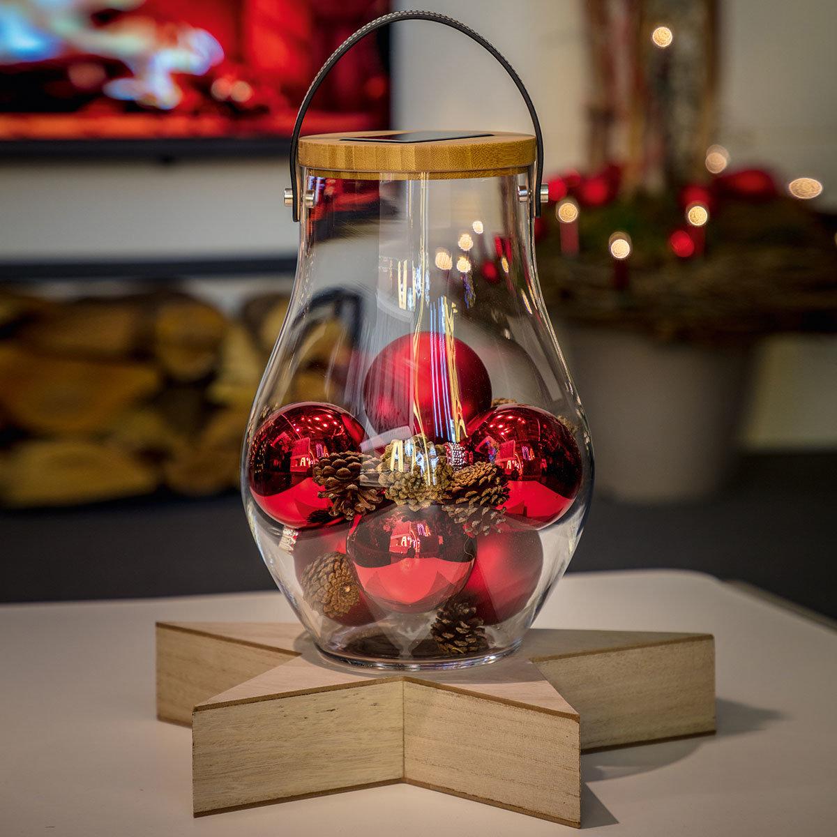 Deko Glas Bold, 31 cm, Glas, Bambus, klar | #5