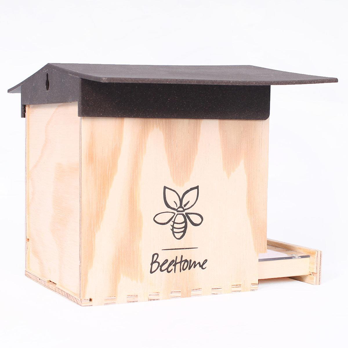 Insektenhotel BeeHome Observer mit Gutschein für Mauerbienenkokons | #5