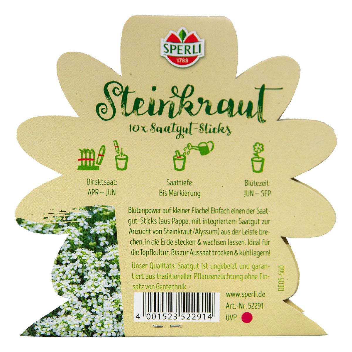 10 Saatgut-Sticks zur einfachen Anzucht, Steinkraut | #5