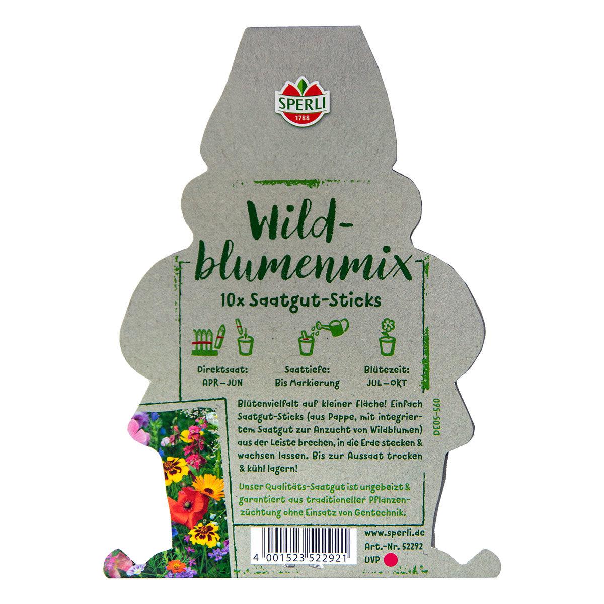 10 Saatgut-Sticks zur einfachen Anzucht, Wildblumenmischung | #5