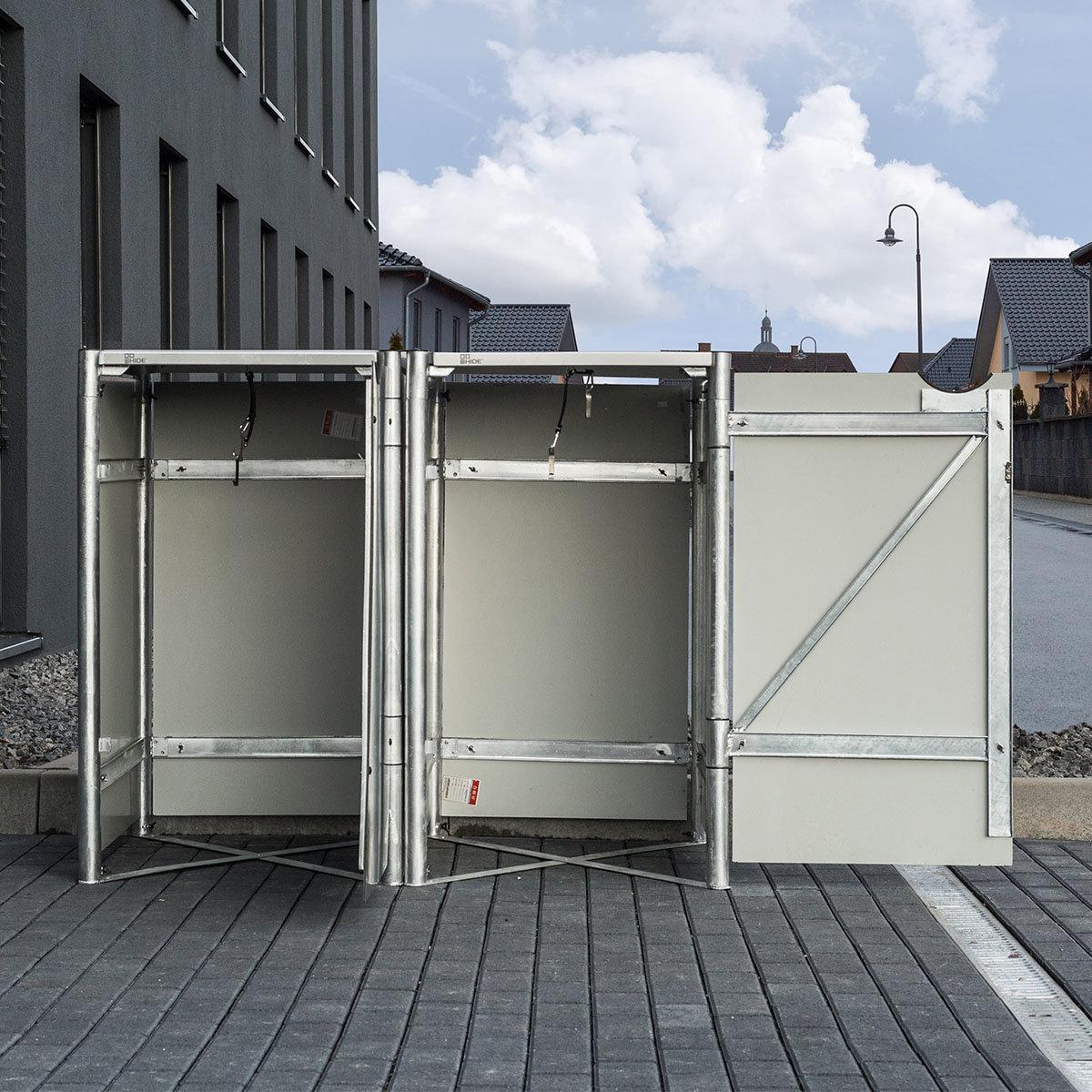 Mülltonnenbox 140l Kunststoff, 2er Box, schwarz | #5