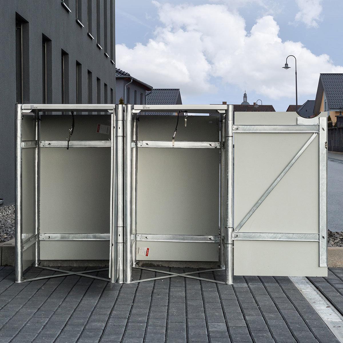 Mülltonnenbox 240l Kunststoff, 2er Box, grau   #5