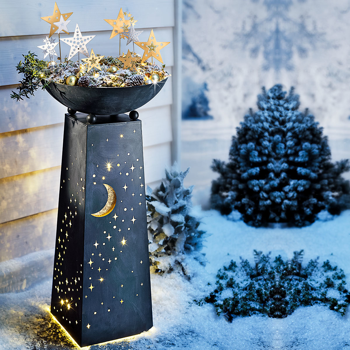 Pflanzsäule Sternenhimmel mit LED-Beleuchtung | #5