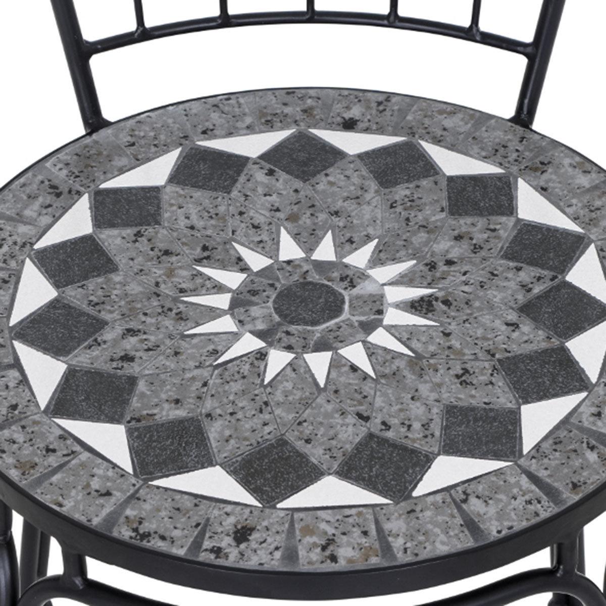 Stapelstuhl Mosaik, Stahlgestell mit Keramikfläche, ca. 49 x 43 x93,5 cm | #5