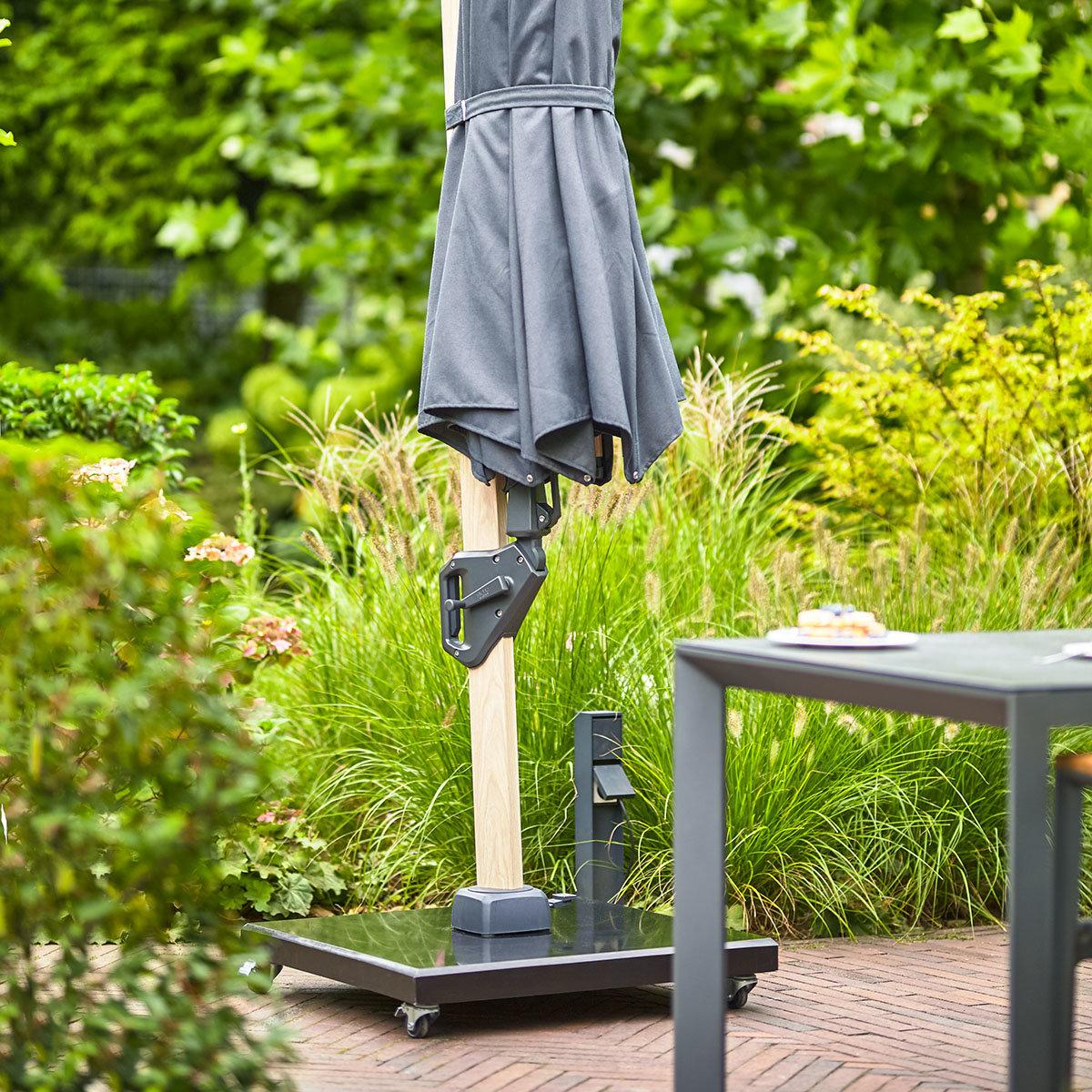 Granit-Schirmständer mit Lenkrollen, ca 90 kg | #5