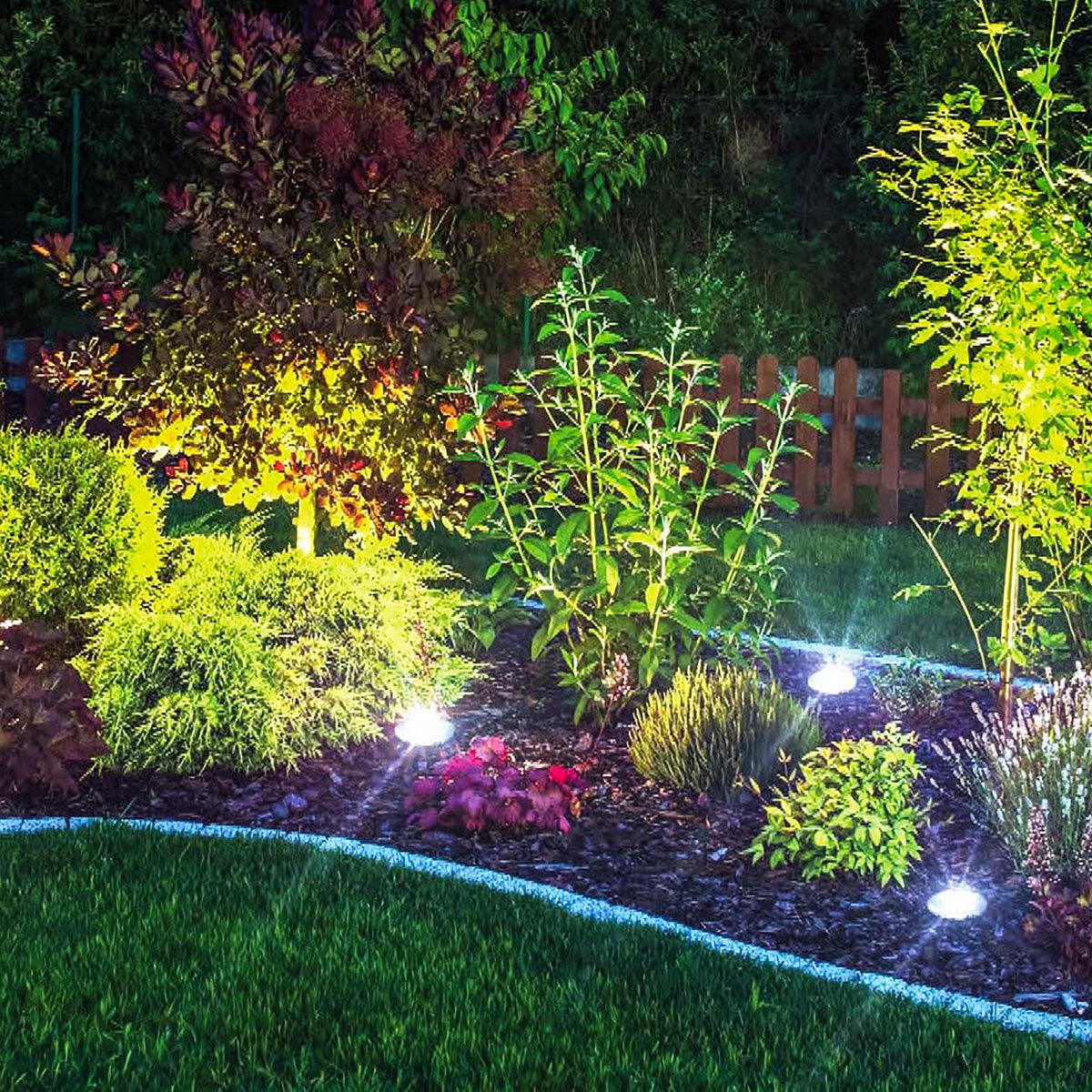 Disk Light Stone Gartenbeleuchtung, Solar, 4er Set | #5
