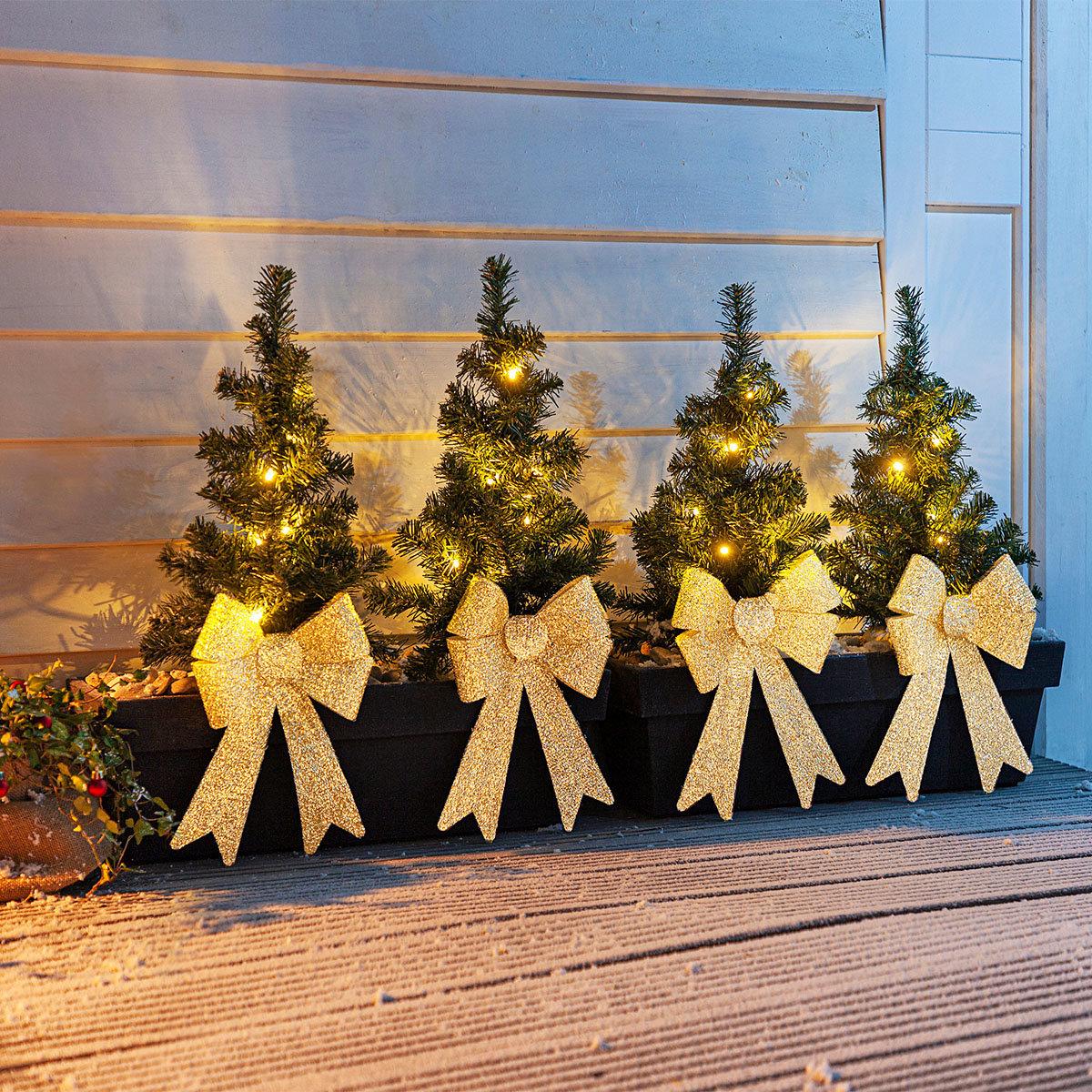 Lichter-Weihnachtsbäumchen, 4er Set | #5
