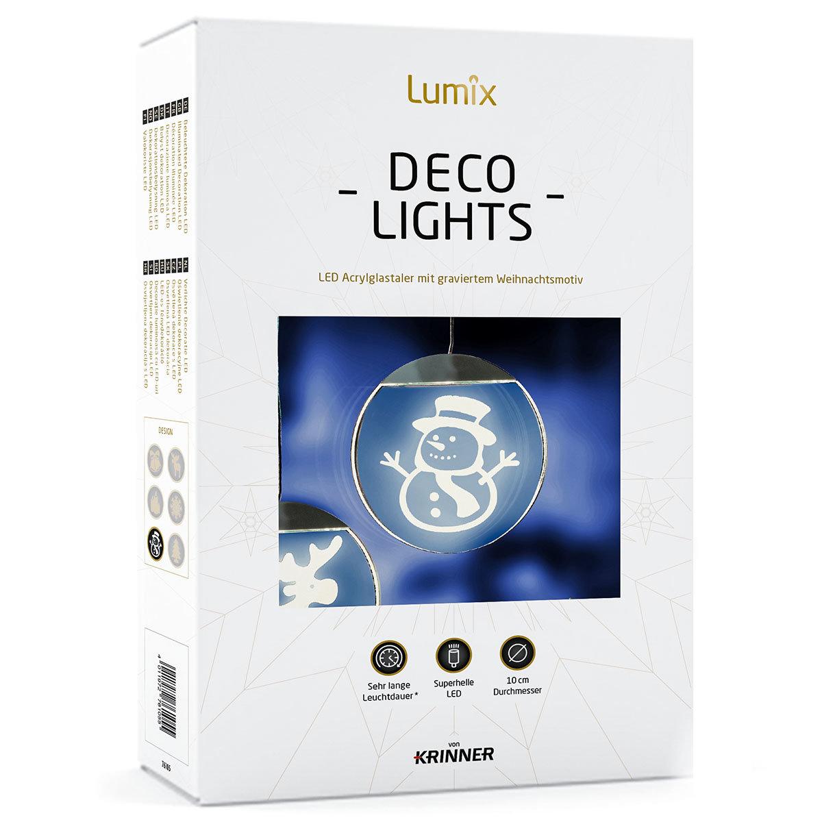 Deko-Lights Schneemann, silber, Ø 10 cm   #5