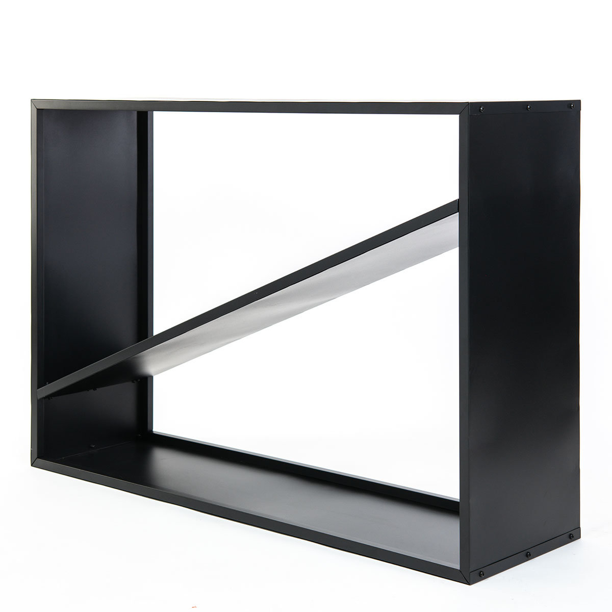 Kaminholzregal 115x35x80 cm, schwarz | #5