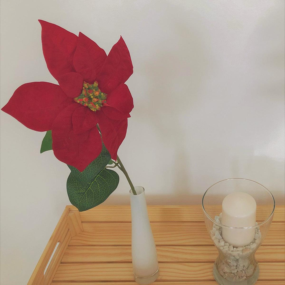 Kunstpflanze Poinsettia, rot   #5