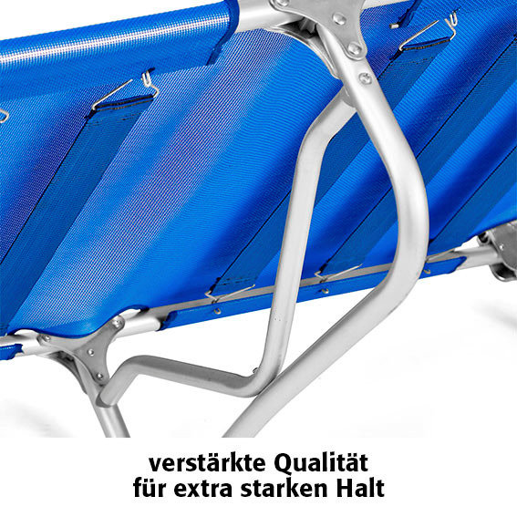 Tragbare Aluminium-Sonnenliege Rimini, blau | #5