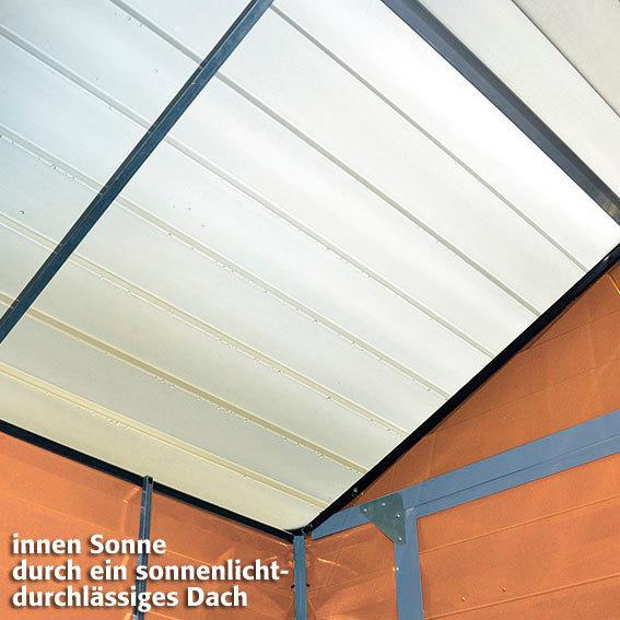 Skylight Gartenschuppen 4x6' braun, inkl. Boden | #5