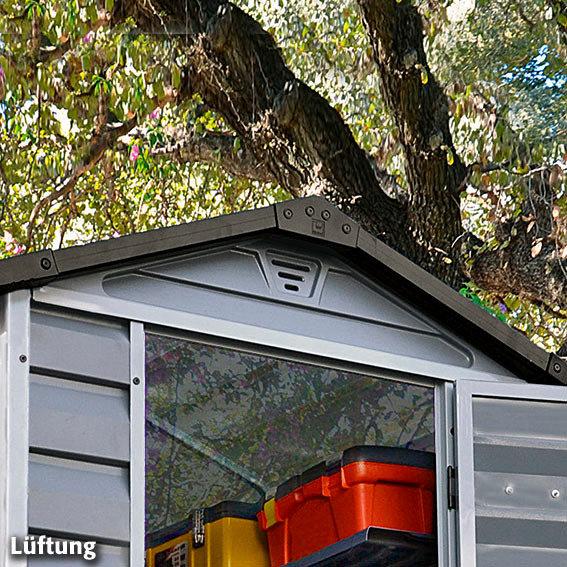 Skylight Gartenschuppen 4x6' grau, inkl. Boden | #5
