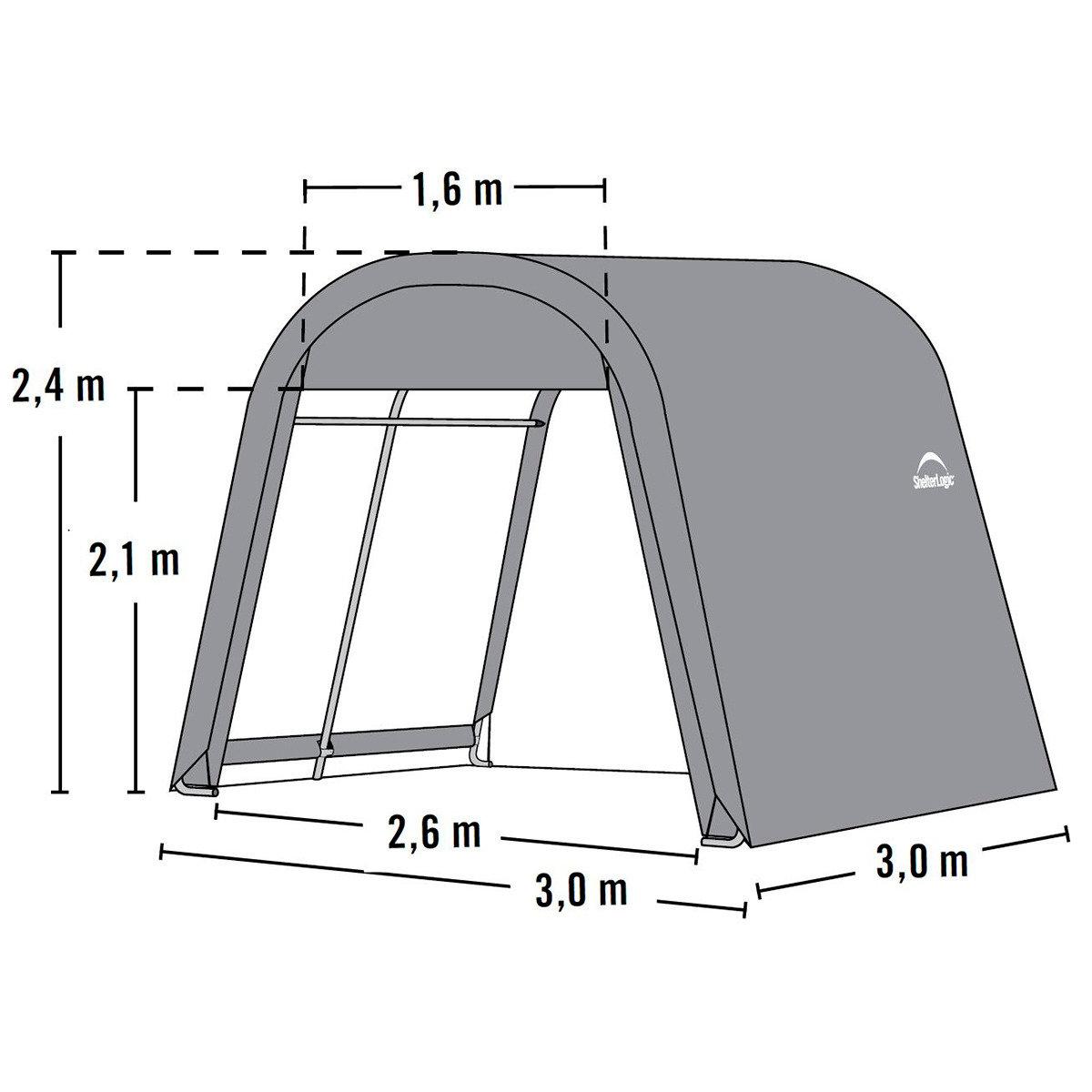 ShelterLogic Folien Gerätehaus 9m² inkl. Sturmanker | #6