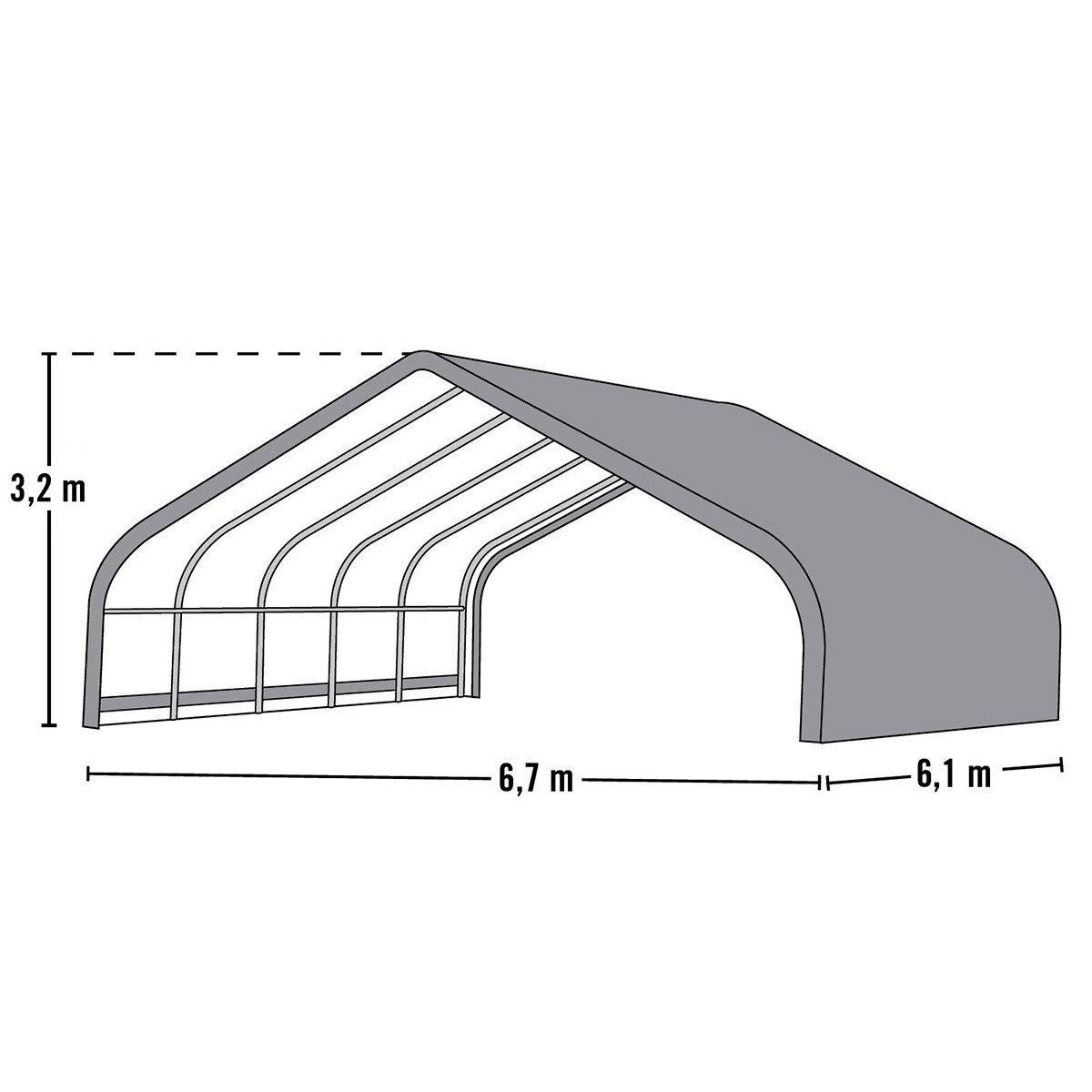 ShelterLogic Weidezelt Run-in-Shed 40,87m² inkl. Sturmanker   #6