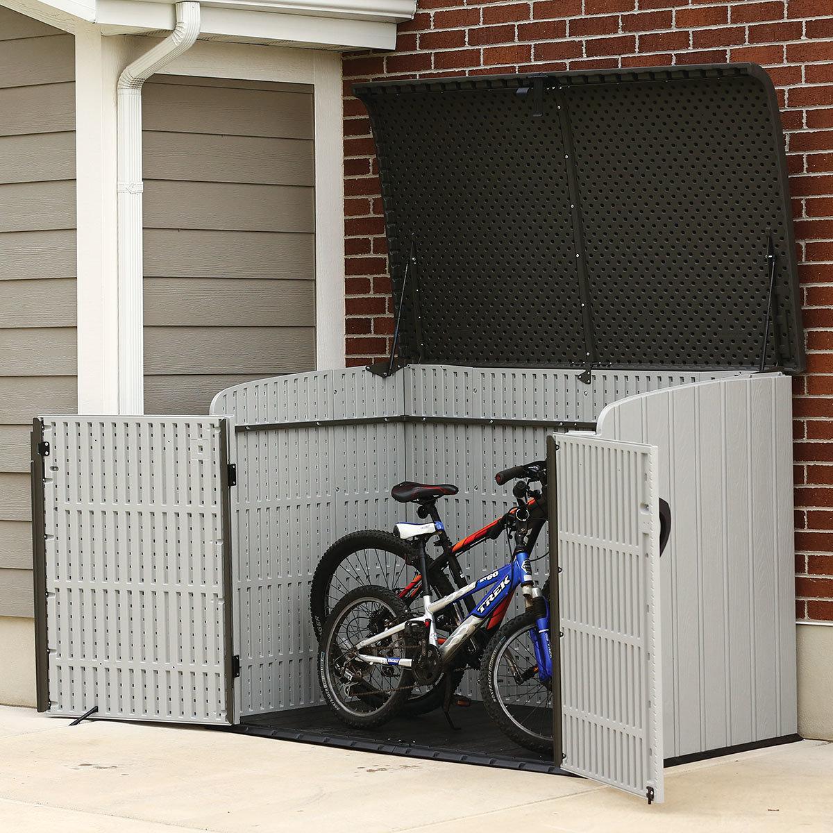 Gerätebox-Mülltonnenbox, 132x191x108 cm, grau | #6