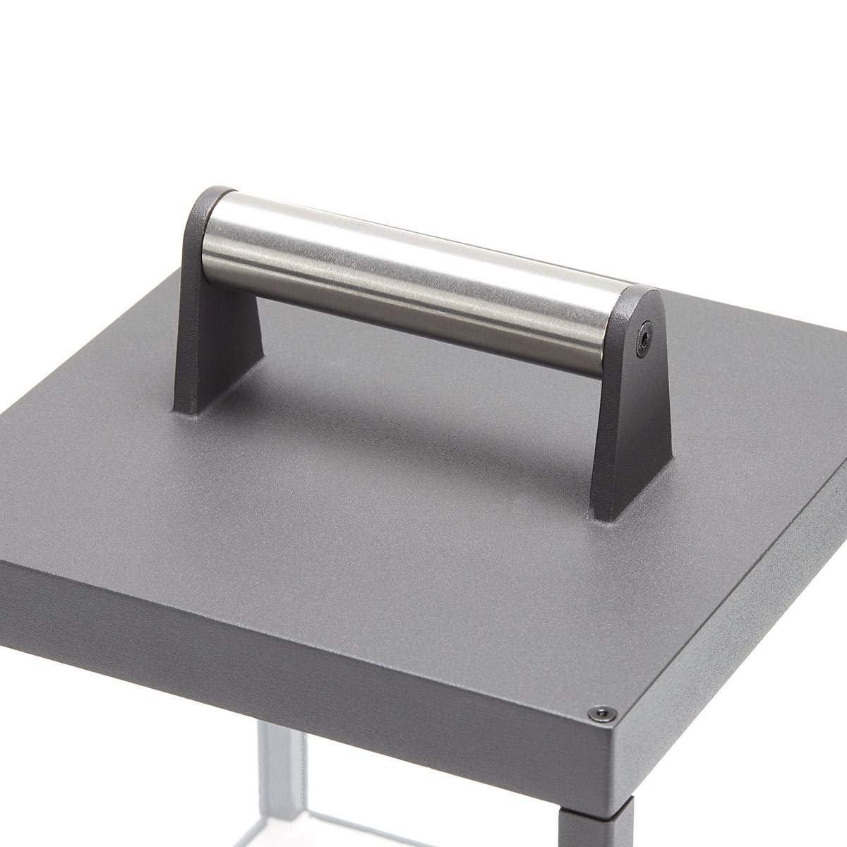LED Tischleuchte Cube, 26,7x18x18 cm, Aluminium, grau | #6